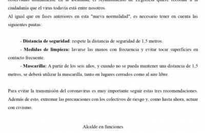 """Medidas preventivas en la """"nueva normalidad"""""""