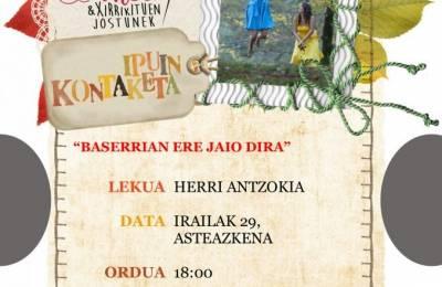 Cuentacuentos bajo el título 'Baserrian ere jaio dira',  el miércoles