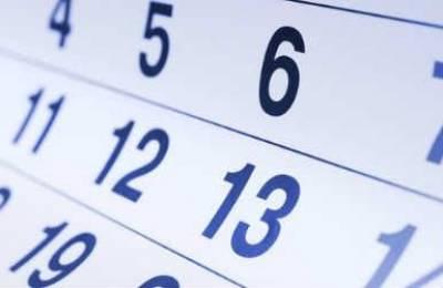 Anuncio de calendario fiscal